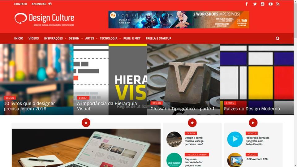 Nova interface do portal (Foto: Design Culture).