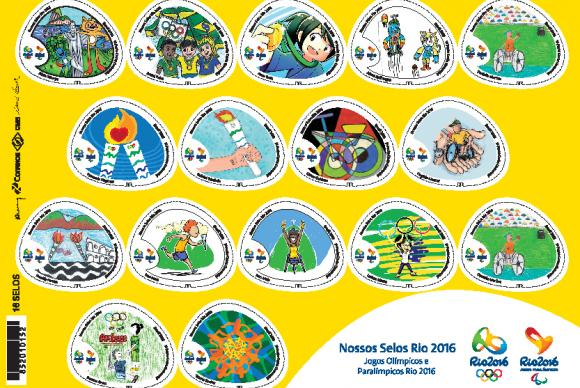 Cartela dos novos selos (Foto: Reprodução).