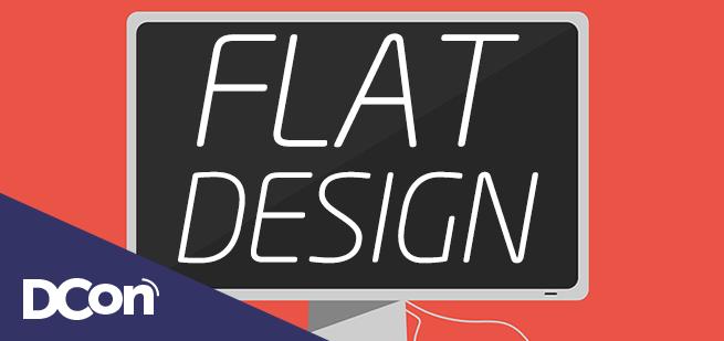 Flat Design Artigo Tendência