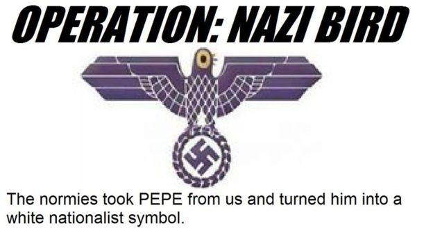 Imagem do Fórum 4chan mostra montagem em que alega conter apologia ao nazismo no projeto (Foto: Reprodução).