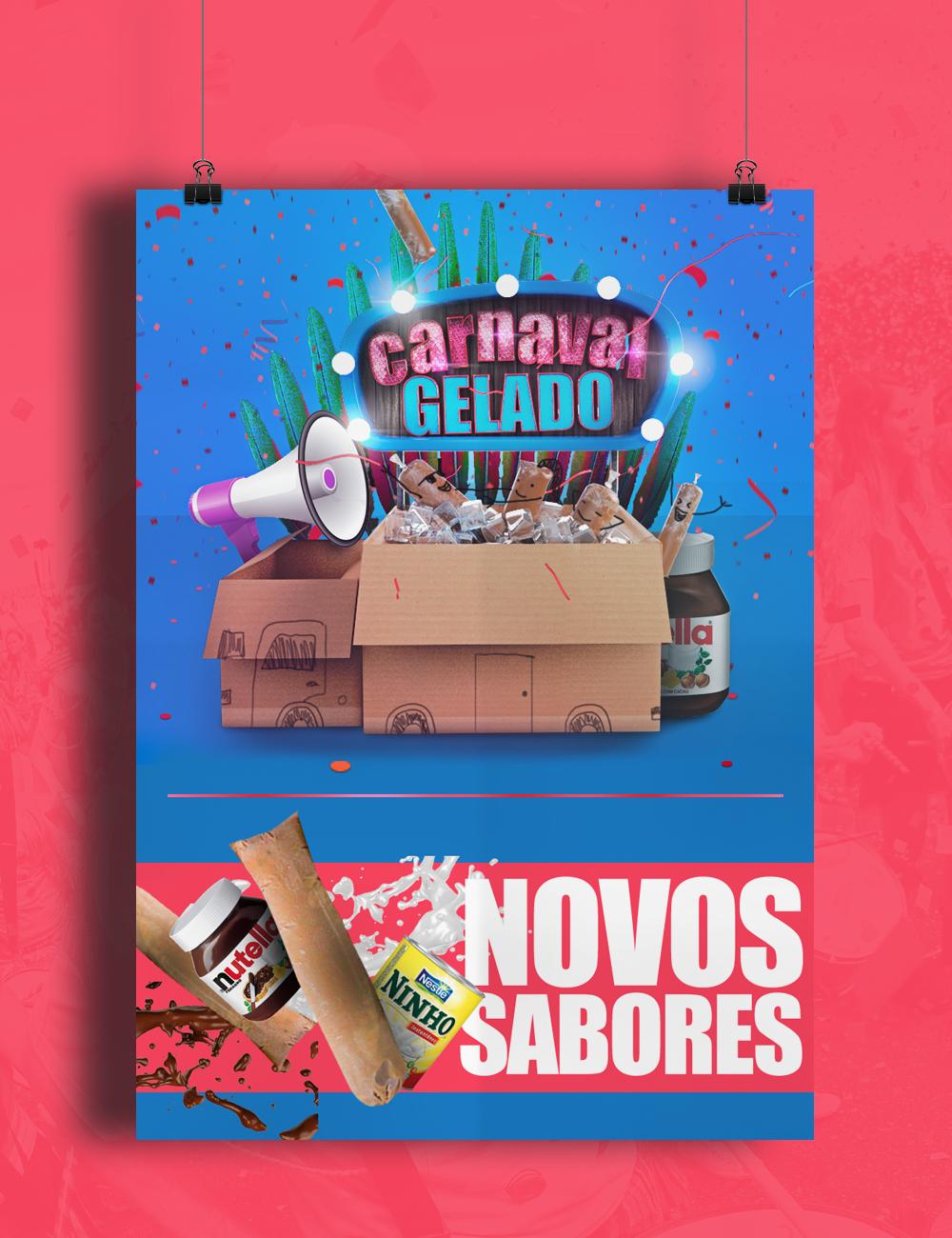 Carnaval Gelado, por Bruno Ramos (Foto: Reprodução).