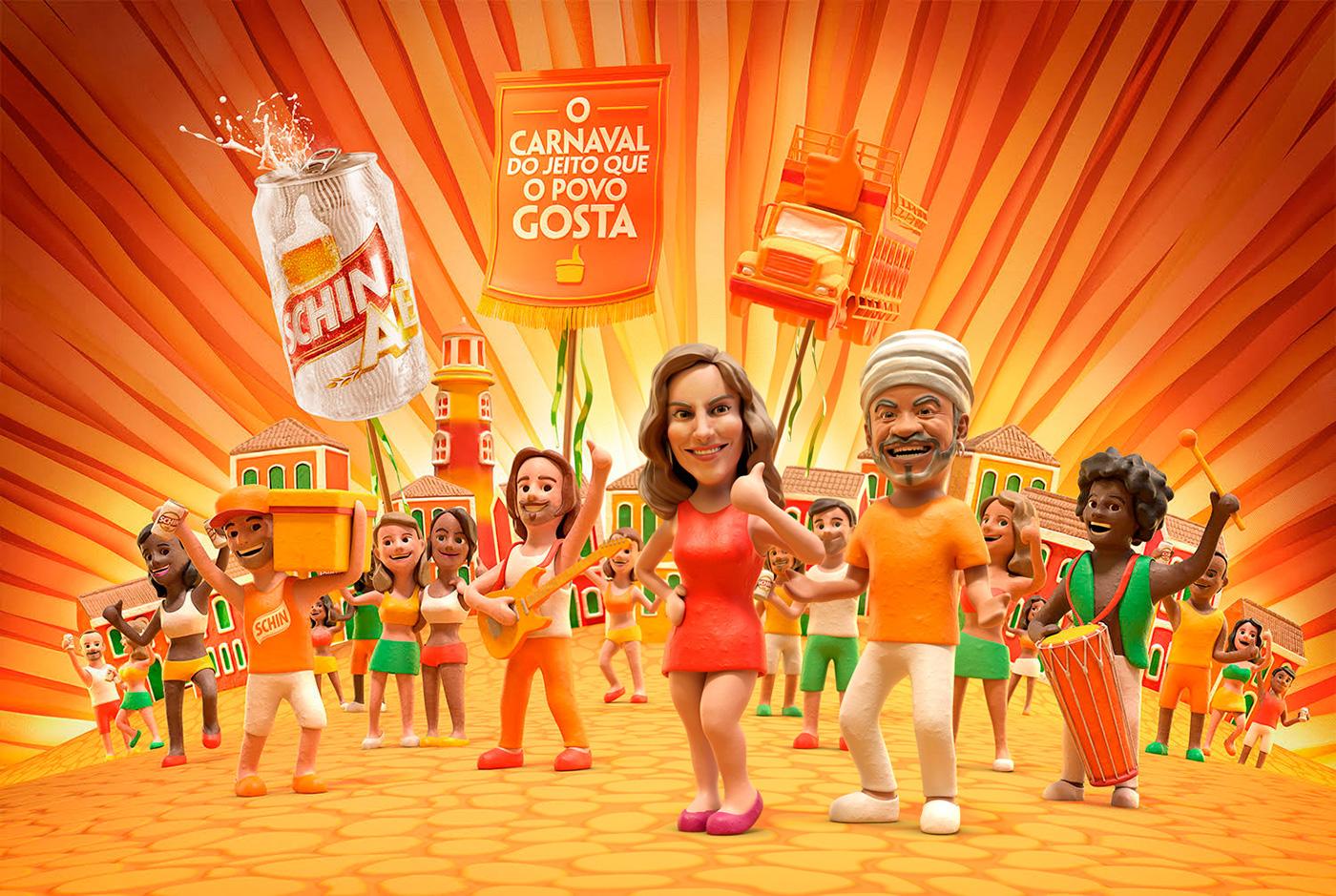 Carnaval Schin, por Caetano Silva (Foto: Reprodução).