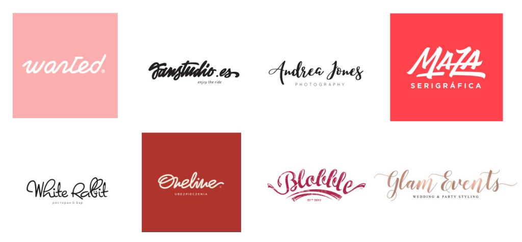 Handmade lettering Feito à mão logotipo Design