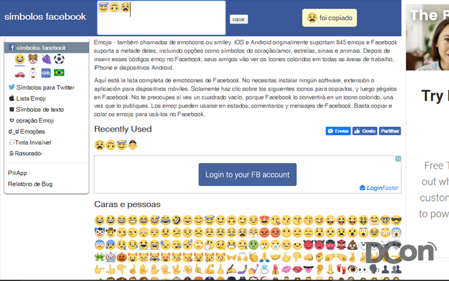 Emoticons-Emojis-Facebook