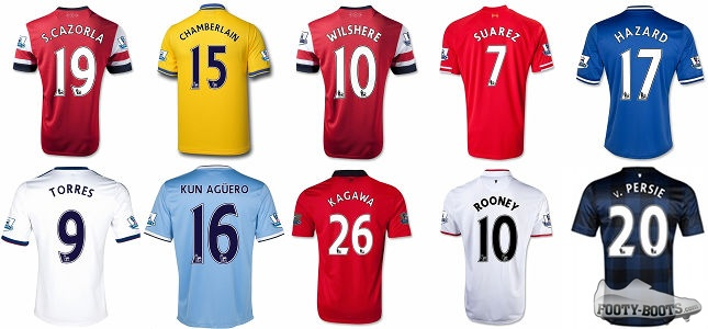 top-10-selling-player-shirts-premier-league-2012-13