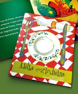 """Capa do livro """"Adelia Cozinheira"""""""