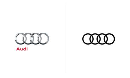 Audi-Antigo-e-Novo-Logotipo