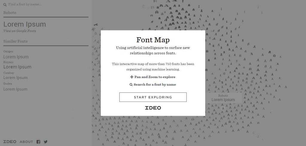 Font-Map