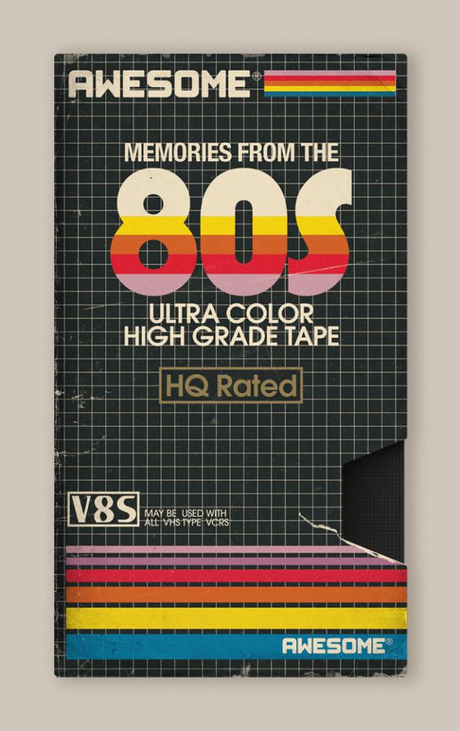 Memória dos Anos 80 - Design das Fitas K7 3