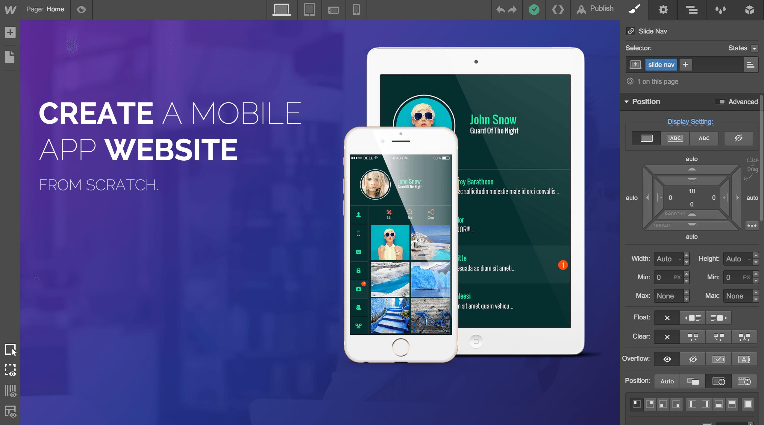 Desenvolva para a Web Visualmente com o Webflow