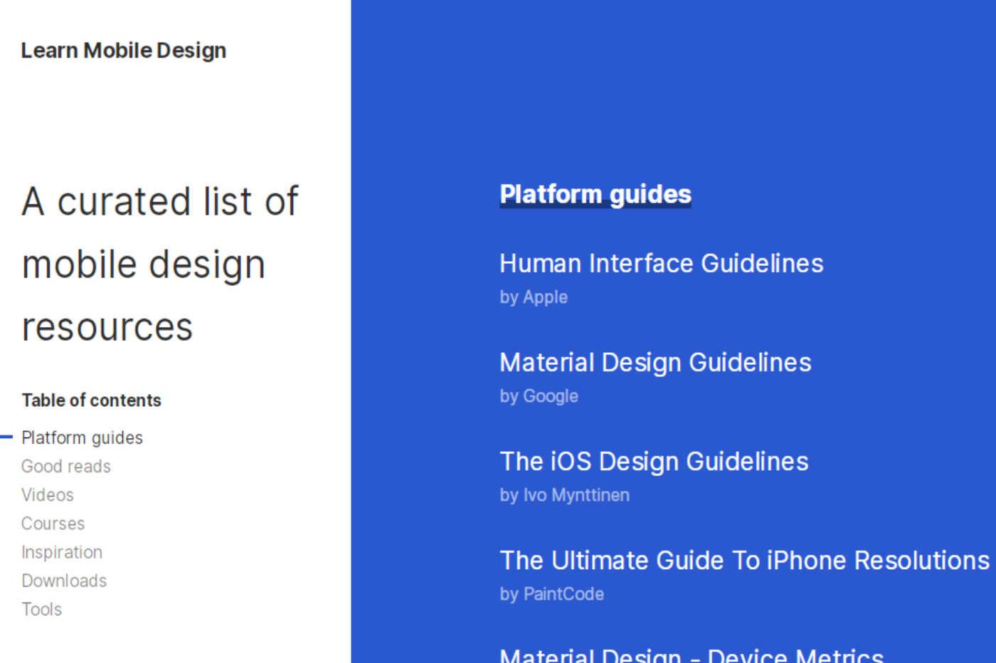 Learn Mobile Design: curadoria de UX/Mobile Design – Design